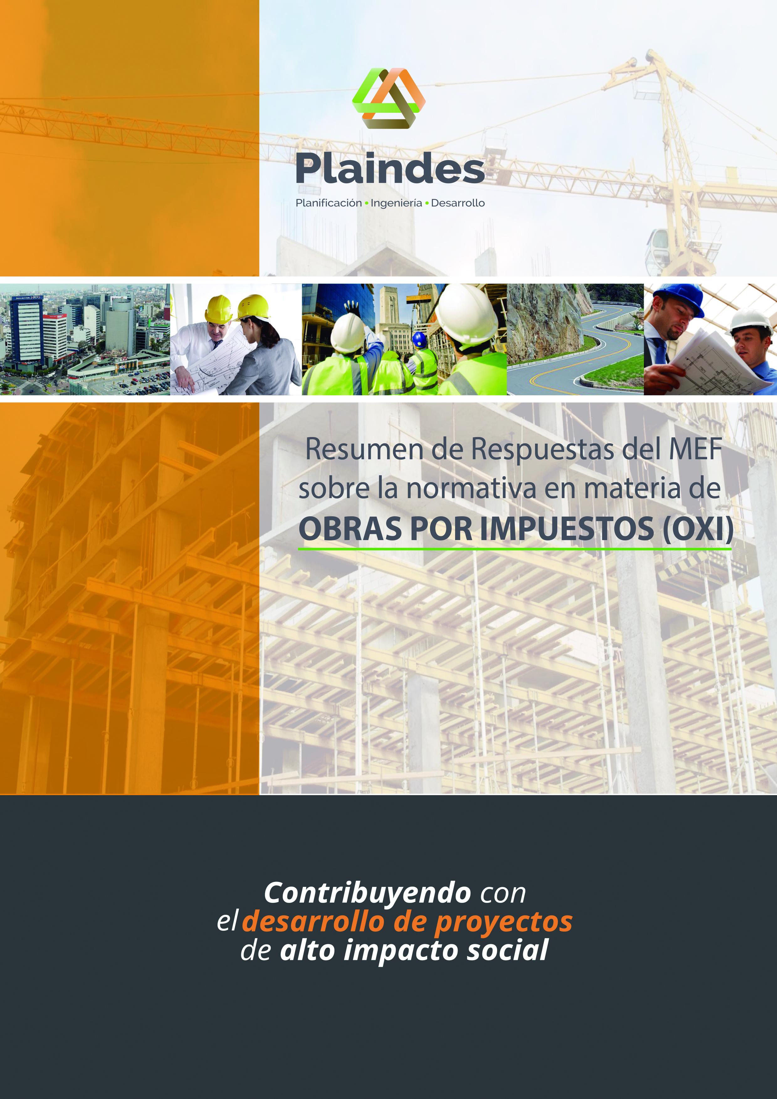 Resumen de Respuestas del MEF a las consultas sobre la normativa en materia de Obras por Impuestos (OxI)
