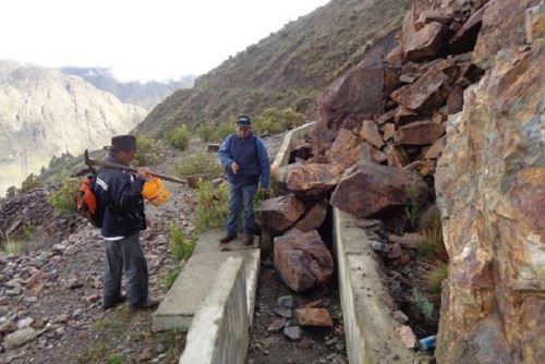 Áncash: Más de mil agricultores se beneficiarán con canal de riego en Aquia-Bolognesi