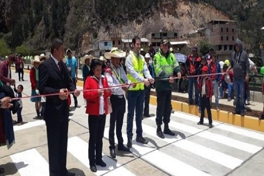 La Libertad: Inauguran nuevas pistas y veredas en Sanagorán ejecutadas vía Obras por Impuestos