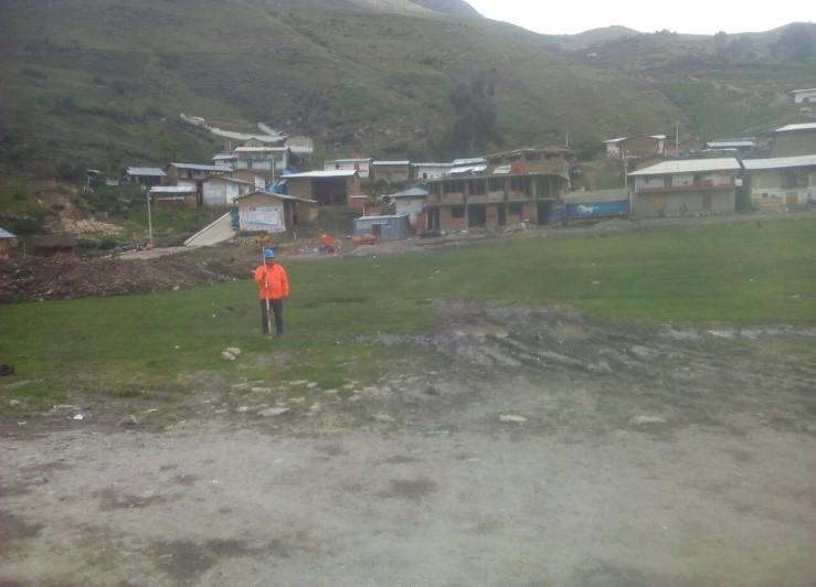 Construcción de la Plaza en la Localidad de Vistoso, Distrito de   San Marcos, Huari, Ancash